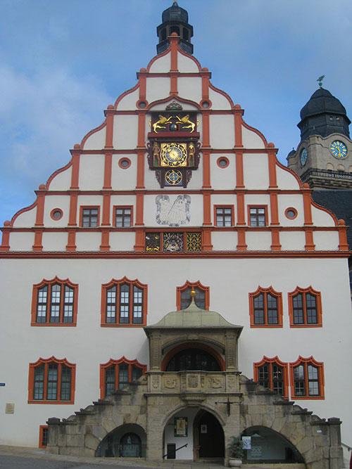 Das altehrwürdige Rathaus in Plauen
