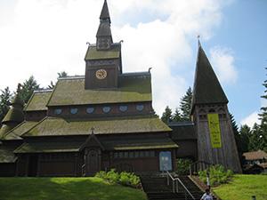 Die Gustav-Adolf-Stabkirche in Hahnenklee
