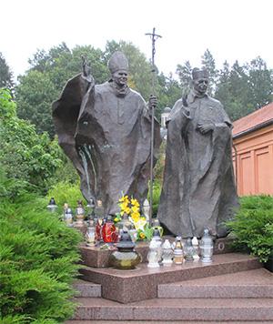 Alle Polen sind sehr stolz auf ihren polnischen Papst Karel Wojtyla (Johannes Paul der II)