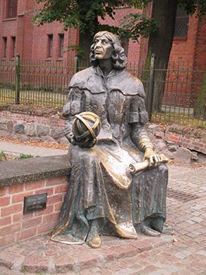 Statue in Thorn, der Geburtsstadt von Nikolaus Kopernikus