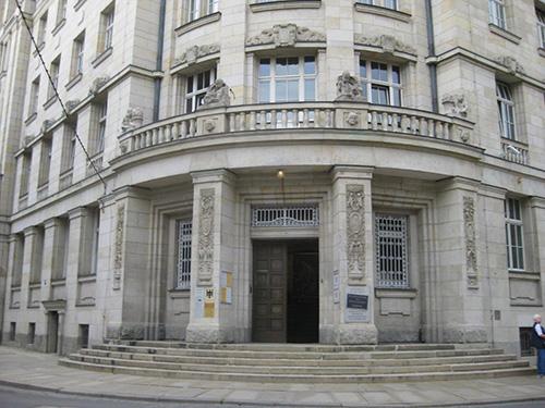 """Die so genannten """"Runden Ecke"""", das Stasi Museum in Leipzig"""
