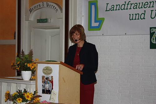 Die Präsidentin unseres Landesverbandes Frau Ulrike Röhr.