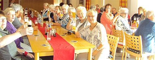 Wir beim Besuch und der Bierprobe der Brauerei Leikeim in Weismain