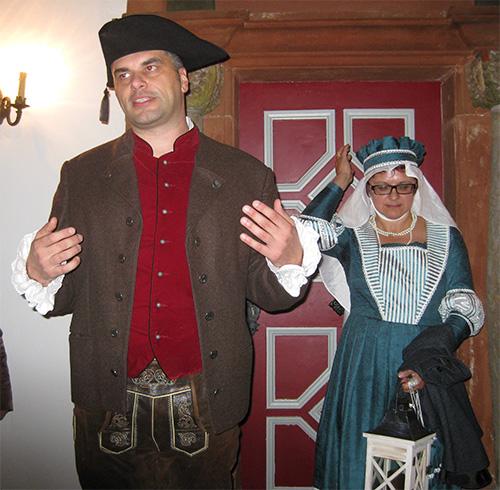 In dem Ort Weismain hatten wir eine abendliche Führung durch den Ort mit historischem Charakter.