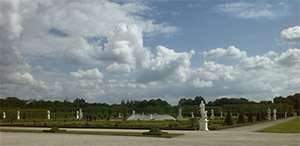 Herrenhäuser Gärten beim neu errichteten Schloss Herrenhausen