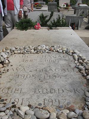 Das Grab des berühmten Malers Marc Chagall