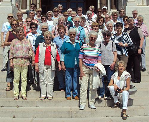 Gruppenfoto der Landfrauen in Monaco
