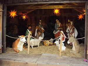 Krippenspiel auf dem Weihnachtsmarkt in Schwerin 2014