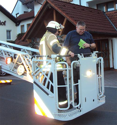 Feuerwehrübung im Hotel
