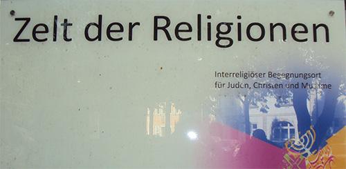 Zelt der Religion in Bamberg.