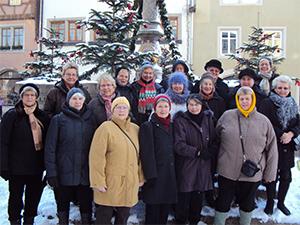 Gruppenbild Weihnachtsmarkt Rothenburg ob der Tauber 2012