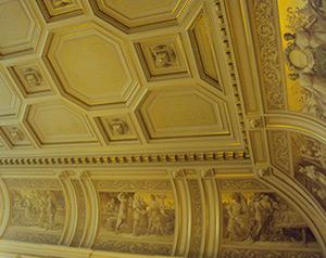 Deckenfries im Hamburger Rathaus