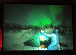 Herr Green zeigt uns Aurora Borealis (Nordlicht)