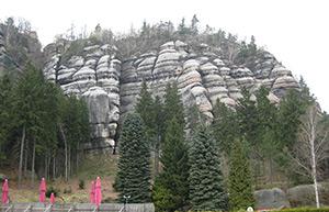 Der Berg Oybin, ein Sandsteinmassiv