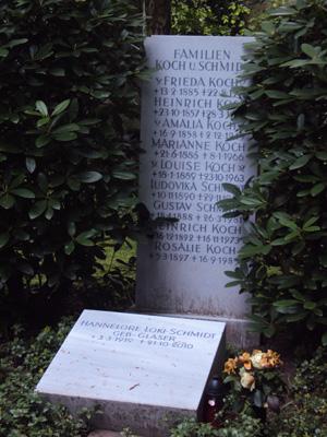Loki Schmidts Grabstätte im Friedhof Ohlsdorf