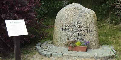 Hans Rosenthal Gedenkstein in Utersum