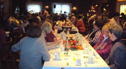 Weihnachtsfeier in der Bahnhofsgaststätte Bern in Mollhagen