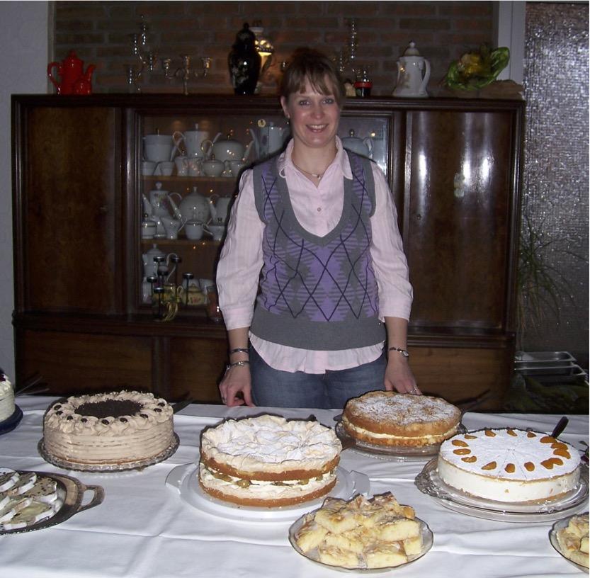 Torten auf der Weihnachtsfeier 2008